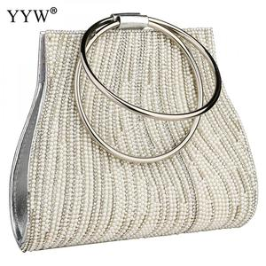Image 5 - Sac A Main Femme Women Circle Ring Purse And Handbag Rhinestone Beaded WomenS Shoulder Bag Luxury Handbags Women Bags Designer