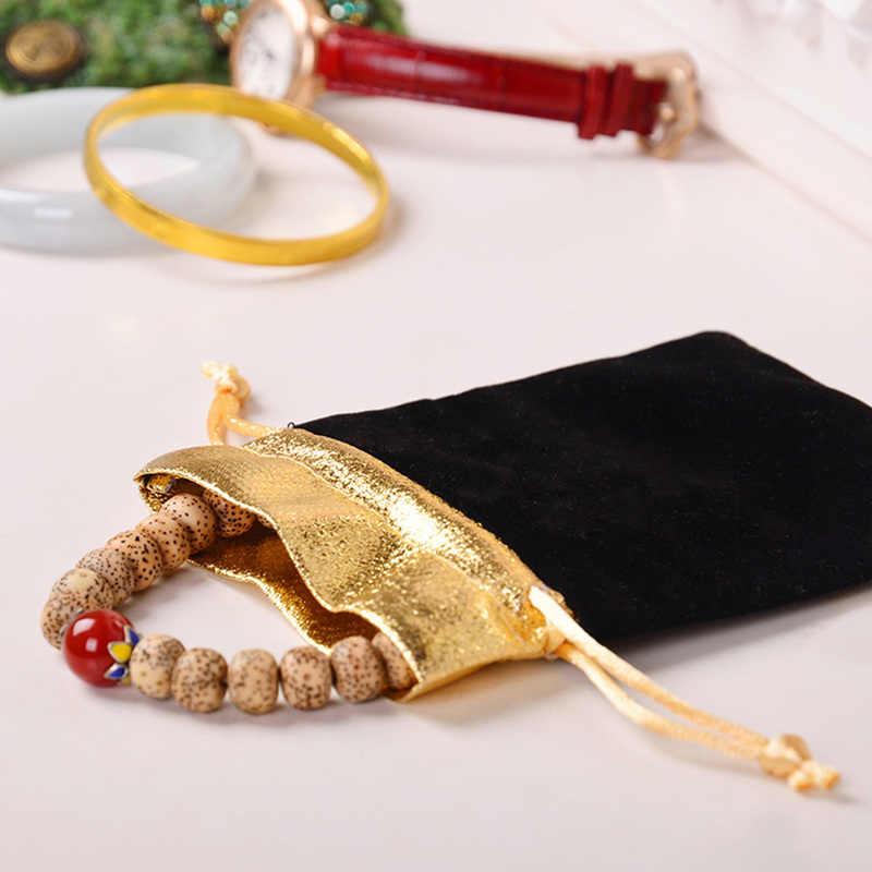 Кольцо, ожерелье, серьги, хранилище, сумочка, ювелирное изделие, подарок декор упаковка мешок фланель шнурок карман ключ-карта мини бумажник кошелек для монет