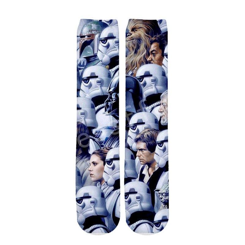 Tessffel Star Wars Darth Vader New Fashion Harajuku Casual Unisex 3Dfull Print Boys/girls/mens/womens Funny Ankle Socks Style-2
