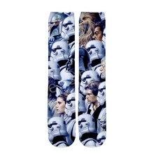 Tessffel Star Wars Darth Vader New Fashion Harajuku casual Unisex 3Dfull Print boys/girls/mens/womens funny ankle socks style-2 стоимость