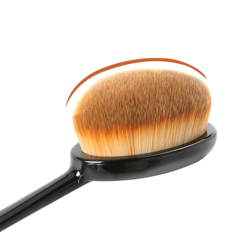 1 PCS Professional Makeup Brush Toothbrush Oval Shape Conceler Face Powder Foundation Brush Synthetic Hair Woman Makeup Tools image