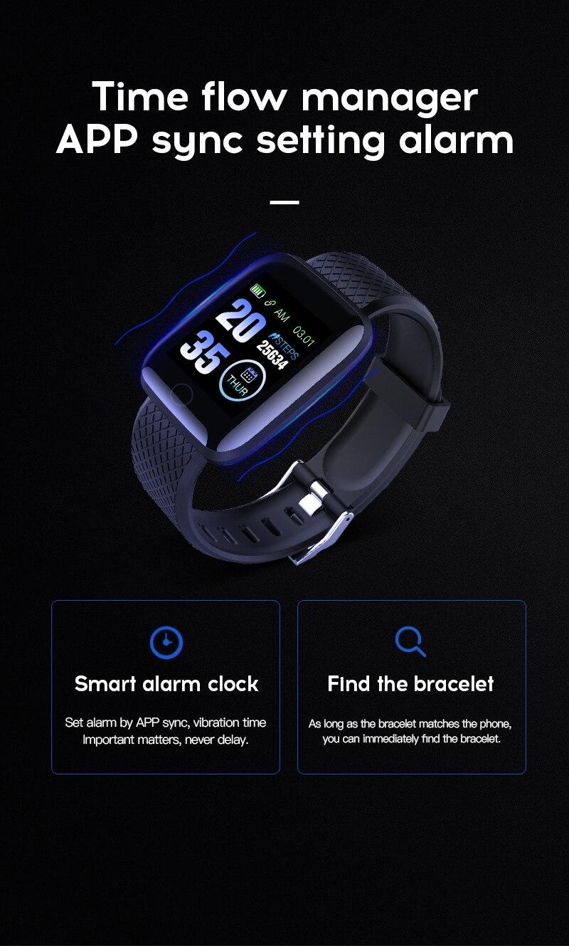 Hbbbd0b5653e94480a12868784a125316U Smart Watch Men Women Smartband Blood Pressure Measurement Waterproof Fitness Tracker Bracelet Heart Rate Monitor Smartwatch