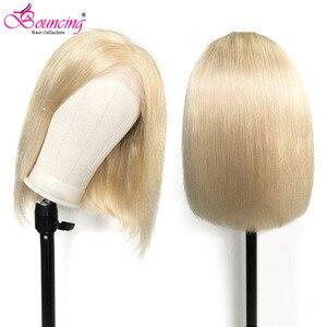 613 # Blonde 99J droite Bob perruques cheveux humains dentelle avant perruques 8 10 12 14 16 pouces brésilien 150 densité 13x4 dentelle frontale Bob perruques