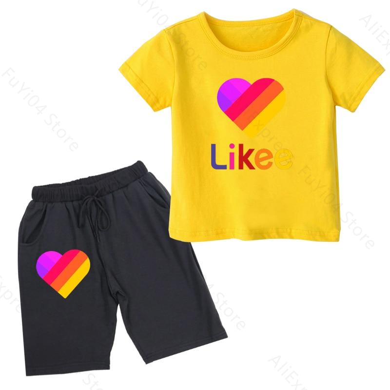 Купить likee app summer baby boy clothes sets kid cute likee live children