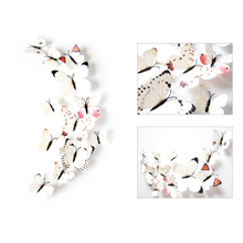 3D Color Butterfly Wall Sticker Magnet Fridge Stickers  Wall Sticker Bedroom Decoration Sticker Room Decoration 3d Wall Stickers 3pcs set 3d removable room decoration wall stickers