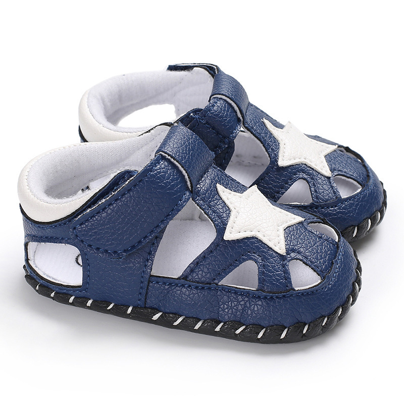 2019 Baby Shoes Girl Boy Sandals Newborn Toddler PU Leather Anti-slip 0-18 Months Star Walking Shoes First Walker Baby Shoes