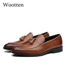 37 48 męskie buty na co dzień mokasyny skórzane marki wygodne klasyczne luksusowe elegancka moda Plus rozmiar przewiewne buty wsuwane mężczyzn # B02