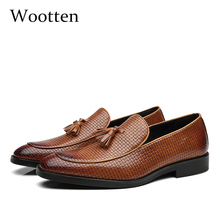 37 48 nam Giày Da đanh Thương Hiệu Thoải Mái cổ điển sang trọng thời trang thanh lịch Plus Kích Thước Thoáng Khí cho nữ nam # b02