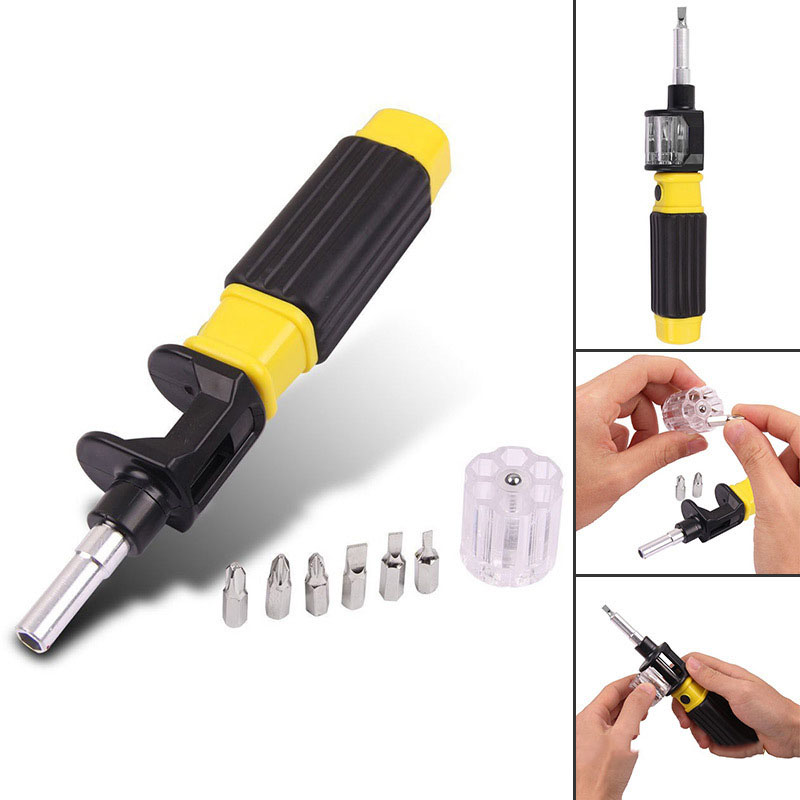 Купить с кэшбэком multi-function screwdriver 360 rotating screwdriver 6-in-1 combination screwdriver fast telescopic switching  hand tools