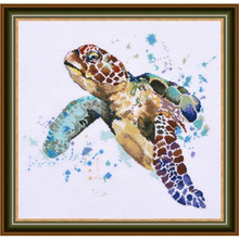 Gold Collection Chic Counted Cross Stitch Kit The Greatness of Longevity Sea Turtle