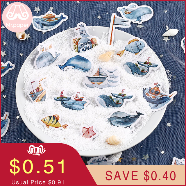 Mr.paper 40Pcs/box Candy Fairy Tales Deco Diary Stickers Scrapbooking Planner Japanese Kawaii Decorative Stationery Stickers 1