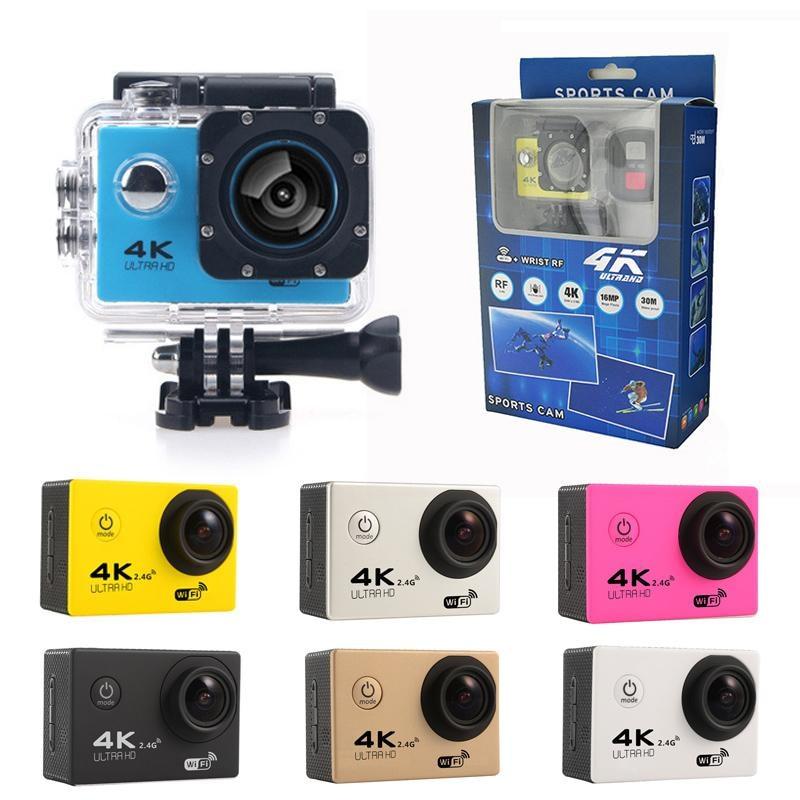 Moins cher 4K caméra d'action F60 F60R WIFI 2.4G télécommande étanche vidéo Sport caméra 16MP/12MP 1080p 60FPS caméscope de plongée