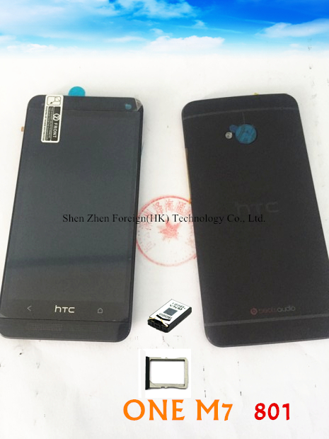Original For Htc ONE M7 801 801E Super Screen With Frame LCD Display Black