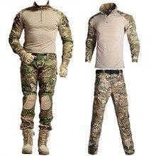 Outdoor Airsoft Paintball Shirt Military Hunting Shirt Uniform Tactical Combat Camo Shirts Cargo Pants Army Germen Uniform