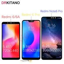 Drkitanoディスプレイxiaomi redmi注 6 proのlcdディスプレイredmi 6Aタッチスクリーンxiaomi redmi 6 プロディスプレイnote6 プロ交換