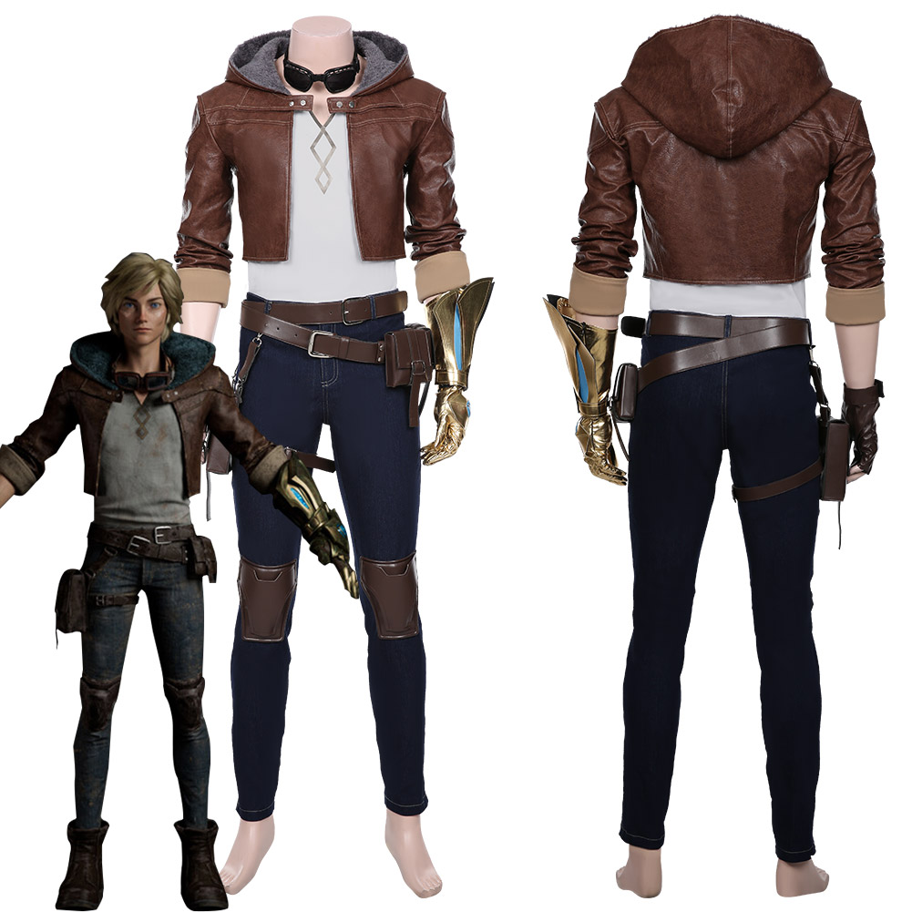 LOL The Prodigal Explorer Ezreal Cosplay Costume Adult Men Coat Pants Outfit Halloween Carnival
