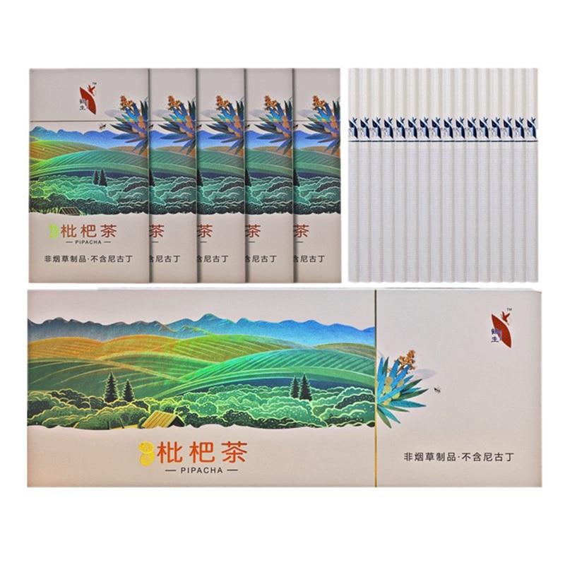 Листья Loquat ароматерапия бросить дым экологически чистый и красивый, китайский курить конец не никотин чистые легкие