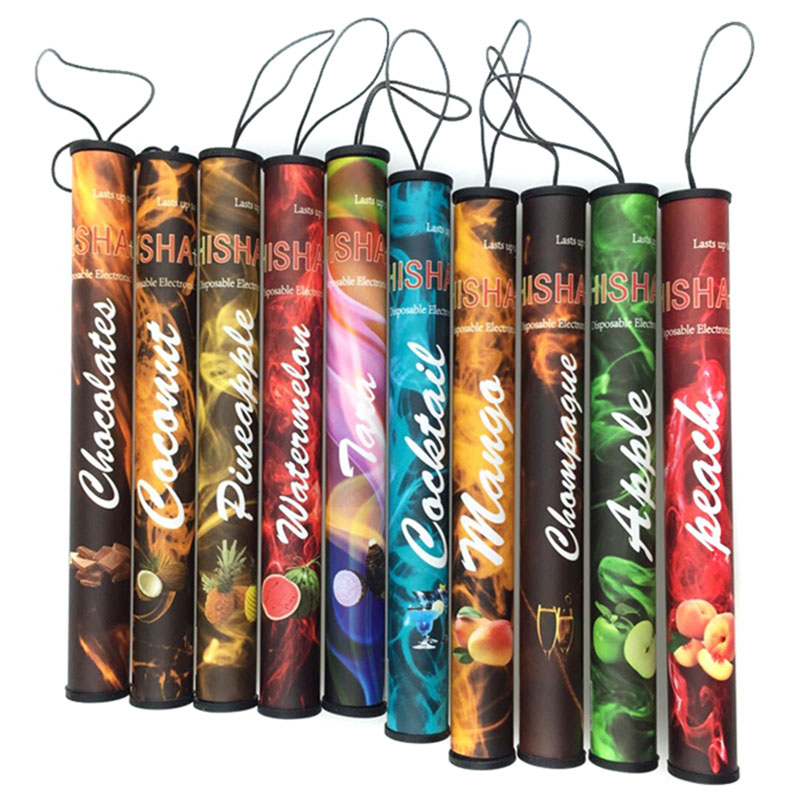 100pcs/lot ShiSha Hookah Pen Electronic Cigarette Pipe Pen Cigar Fruit Juice E Cigarette Stick Shisha Time Colorful 30 Flavors