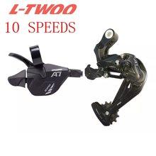 Ltwoo sistema de bicicleta mtb 1x10 10 velocidade shifter traseiro desviador groupset para m610 m670 x5 x7 único peças do cárter sistema 10 s