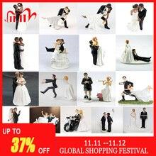 Romantic Groom & Bride Marry Resin Figurine Wedding Cake Topper Wedding Decoration