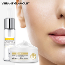 VIBRANT GLAMOUR Snail Repair Serum Face cream Care Set 100% Plant Extract Hyaluronic Acid Whitening Blemish Mosturizing