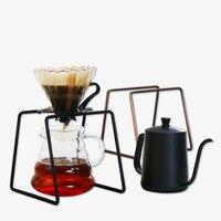 Gotejamento de café para filtro suporte de copo prateleira geometria café dripper suporte v60 gotejamento metal quadro especial para barista preto