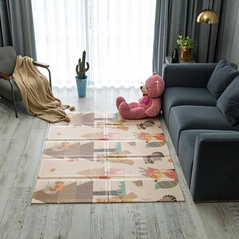 Tapis de jeu bébé tapis d'escalade en coton pliable tapis respectueux de l'environnement pour enfants tapis de jeu épaissi tapis de jeu pour chambre d'enfant