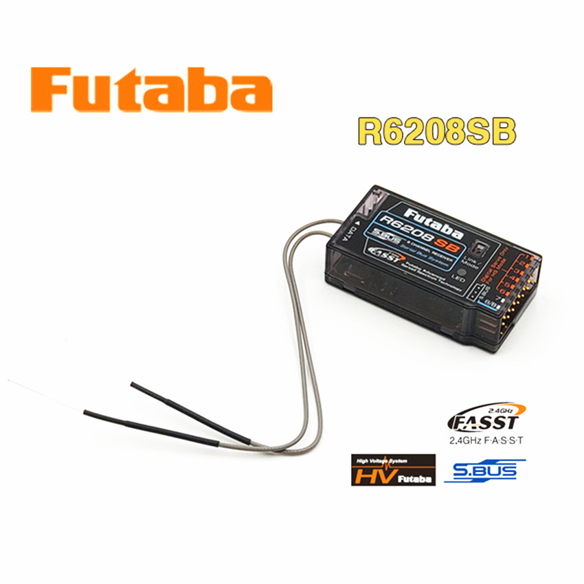 Original Futaba R6208SB 8 kanał 2.4GHz FASST wysokiego napięcia Rx 8FG Super odbiornik do zdalnego sterowania zabawki elektryczne z lotu ptaka modelu w Części i akcesoria od Zabawki i hobby na  Grupa 1