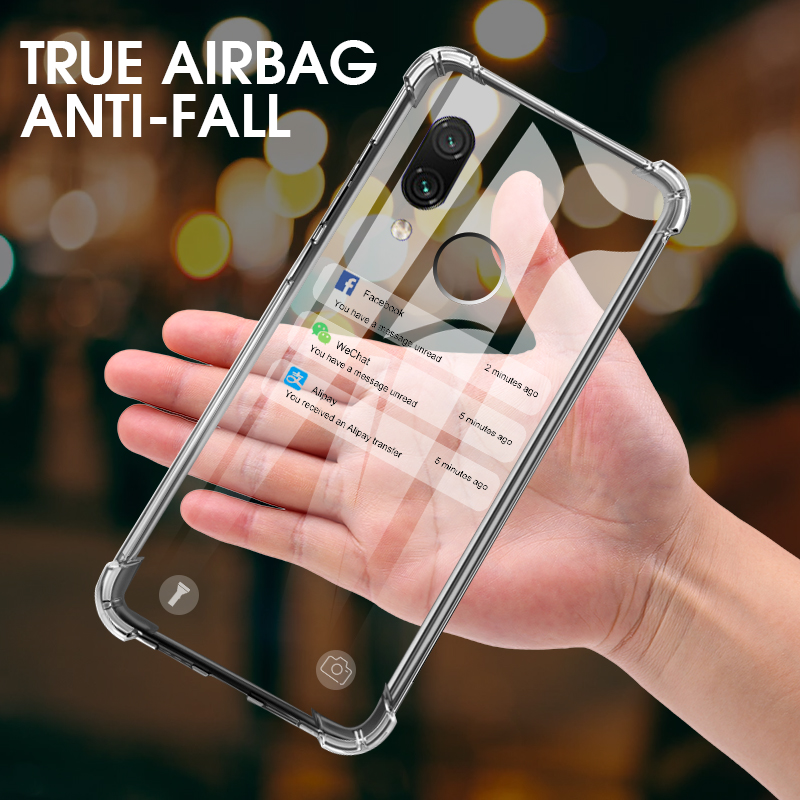 For <font><b>Xiaomi</b></font> Redmi Note 7 5 6 Pro K20 7A 6A Case Clear Shockproof <font><b>Cover</b></font> For <font><b>Xiaomi</b></font> <font><b>Mi</b></font> 8 9 lite Se 9T <font><b>A3</b></font> Silicone Transparent <font><b>Cover</b></font> image