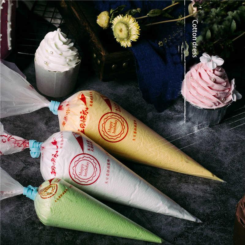 50pcs Disposable Pastry Piping ถุง Icing Fondant เค้กครีมตกแต่งหัวฉีด Bakeware Pastry TIP เครื่องมือเกรด Top