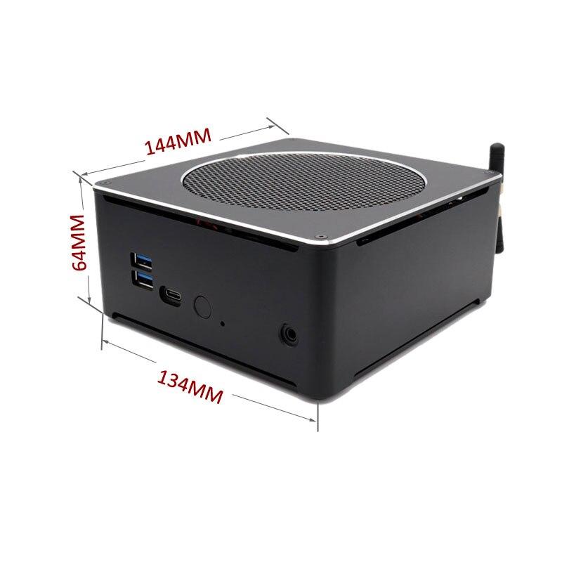 Eglobal игровой Мини ПК i9-9880H 8 ядер 16 потоков 2 * DDR4 2666 МГц 2M. 2 Nuc Windows 10 Pro Linux настольный компьютер AC Wifi DP HD