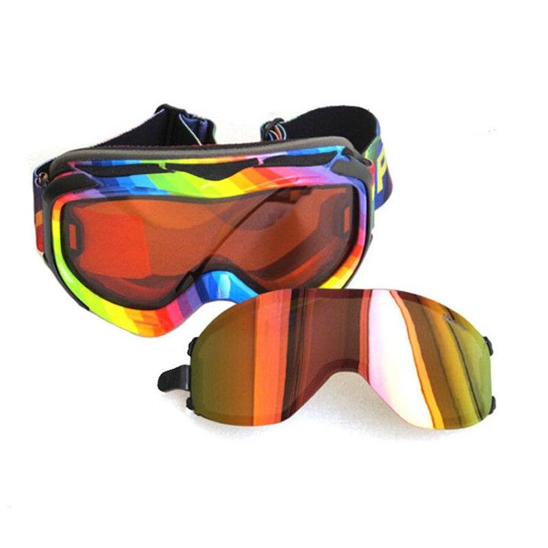 Two Lens Men Polarized Skiing Goggles Women Snowboard Sports Mask Goggles Anti-fog Lens Professional For Night Ski Glasses W321