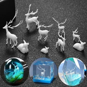 Resina epoxi para hacer manualidades, Mini ciervo 3D, medusas, Material de relleno,...