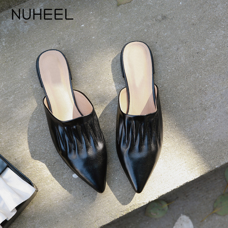 Women's Shoes Slippers Summer Wild NUHEEL Fragrance Muller Pointed Small Wind Small