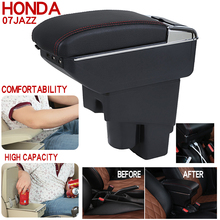 Auto Central console Seat Armrest Box armrest case  Storage Box Handrail case car-styling accessories For Honda fit/jazz 2007 for honda fit jazz 14 15 low equipped model armrest center console storage box interior