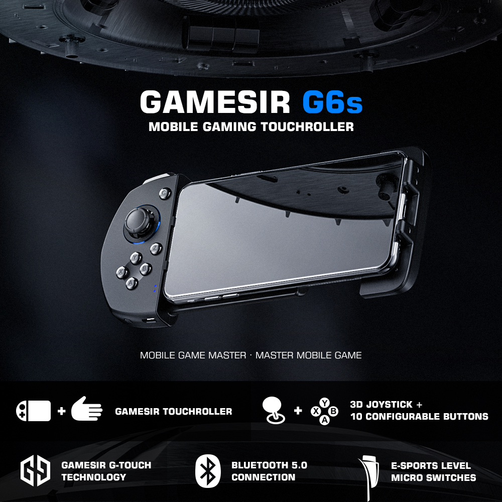 GameSir G6s Mobile Gaming Touchroller Bluetooth Wireless Controller for Android Phone PUBG Mobile, Call of Duty, Mobile Legends|Gamepads| - AliExpress