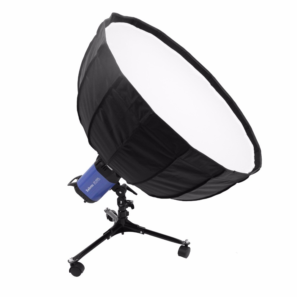 Meking 8 inch Low Floor Roller Wheel Light Stand Foldable Support Bracket For Softbox Flash For low-background light