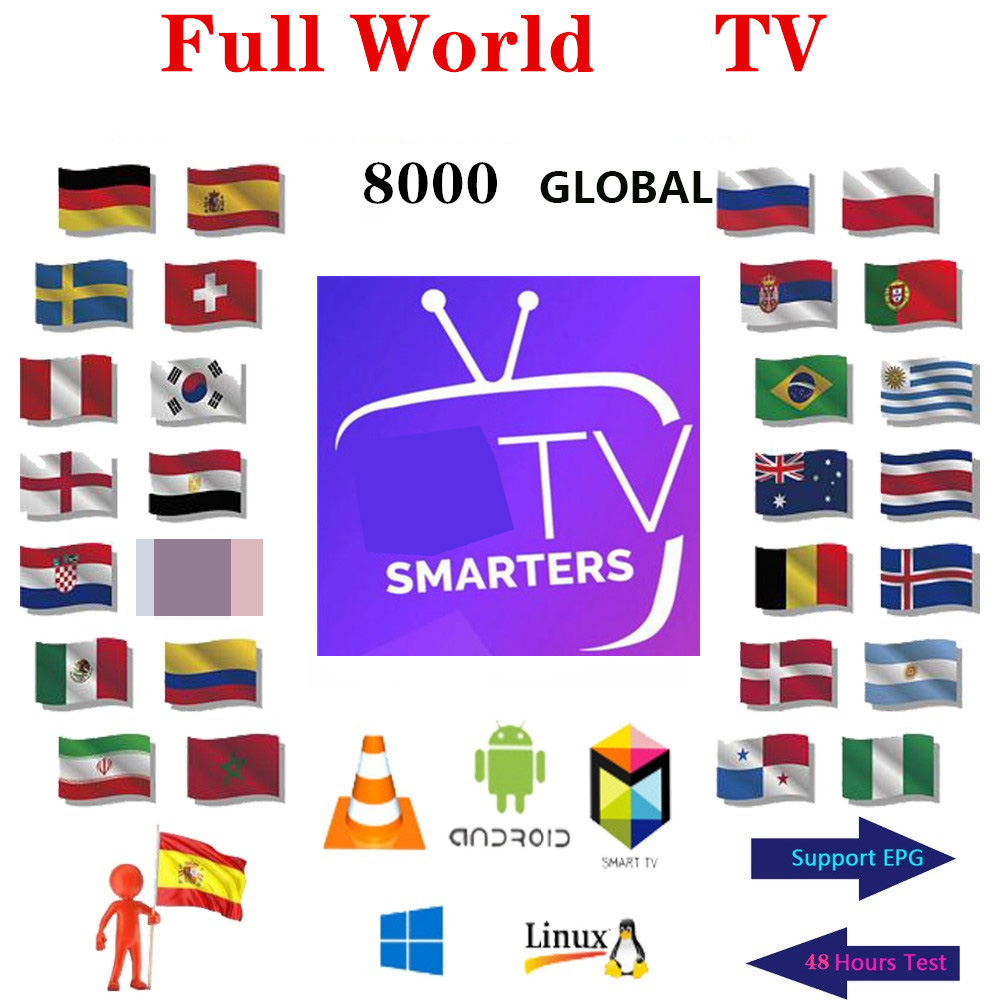Premium IP TV Subscription TV Spain M3u 1 Year With Global  Italy HD Xxx List Europe Arabic Usa Uk Ip Tv