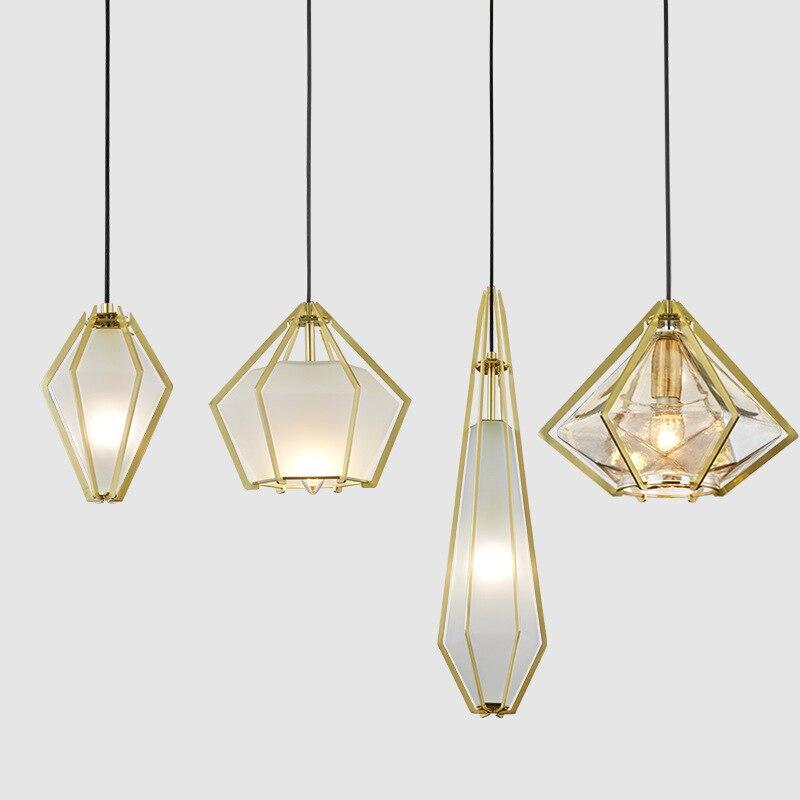 Nordic Pendant Lights Glass Home Decoration E27 Light Fixture  Restaurant   Living Room  Hanglamp Lustre Pendente