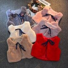PPXX Модный зимний жилет с мехом детский джинсовый жилет, куртка для девочек, одежда для детей детская одежда с мехом, пиджак без рукавов, жилет для детей ясельного возраста
