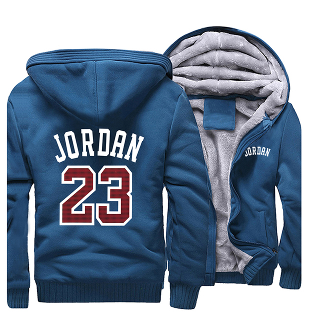 Mens Jacket Hoody Jordan 23 Printed Hoodies Men Thick Warm Zipper Coats 2019 Autumn Winter Camouflage Military Streetwear Hoodie