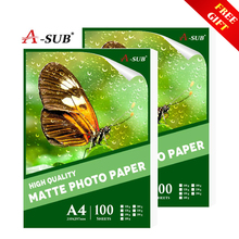 A4 Matte Photo-Paper 100sheets Waterproof for Inkjet Printer Paper Imaging Supplies Printing