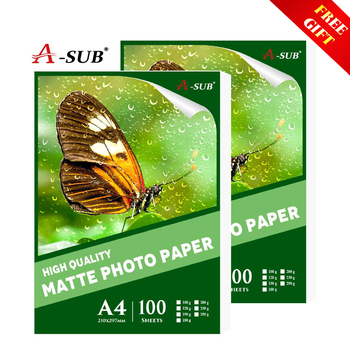 цена на A4 Matte Photo-Paper 100sheets Waterproof for Inkjet Printer Paper Imaging Supplies Printing