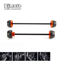 Motorcycle Front & Rear Axle Fork Crash Sliders Wheel Protector For KTM Duke 790 Duke790 2018 2019