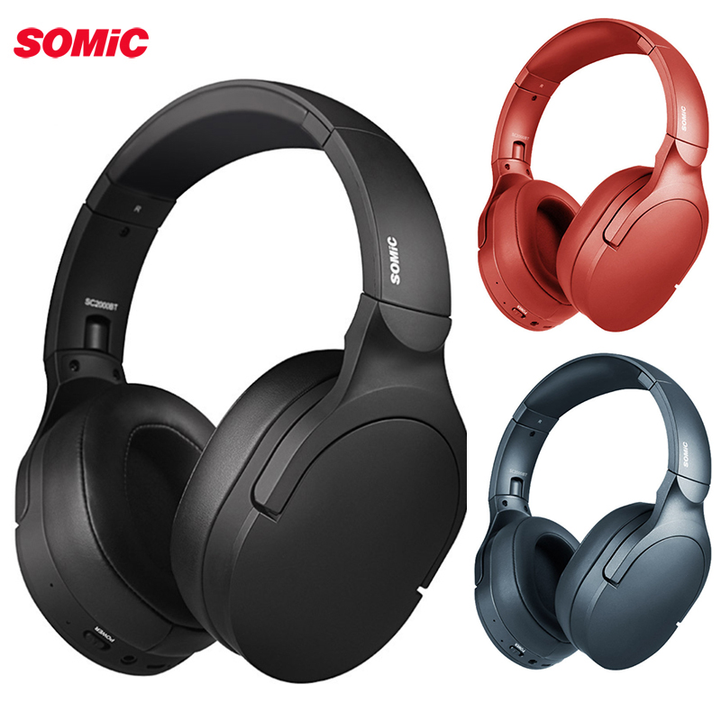 SOMiC SC2000BT <font><b>bluetooth</b></font> Gaming Kopfhörer USB/3,5mm HIFI <font><b>bluetooth</b></font> 5,0 Headset Klapp Stereo Bass Headset mit Mic für <font><b>PS4</b></font> image