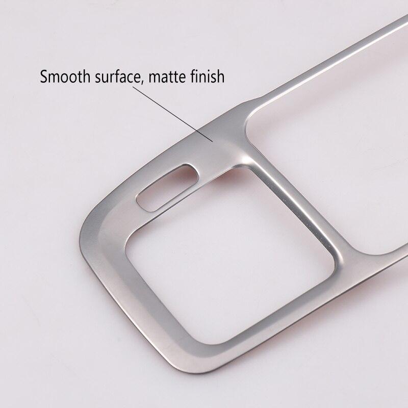 Matte Stainless Steel Key Hole Frame Trim For Volvo S60 2012-2018 V60 2011-2017