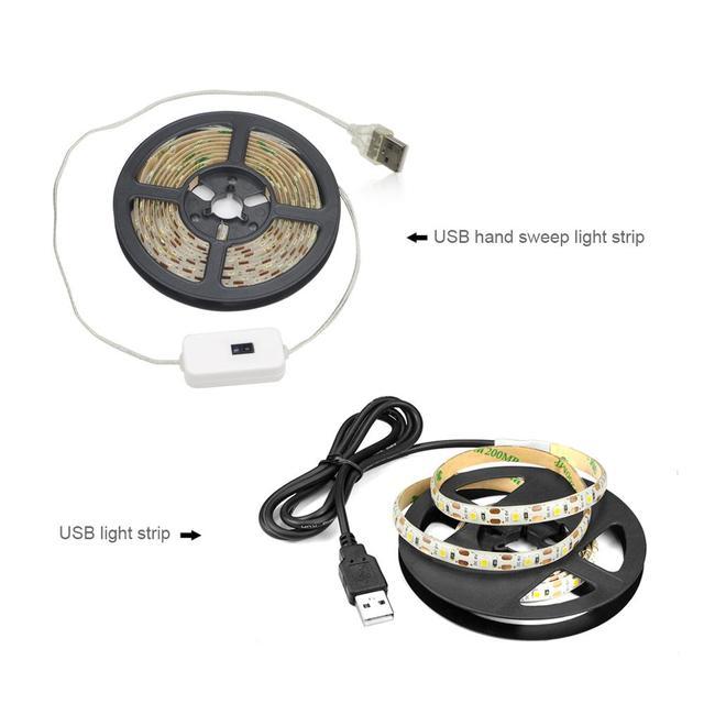 DC 5V Lamp USB Motion LED Backlight LED TV Kitchen LED Strip Hand Sweep Waving ON OFF Sensor Light diode lights Waterproof