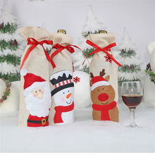 1PC Christmas Home Table Decorations Xmas Reusable Wine Bags Bottle Cover Champagne Holder
