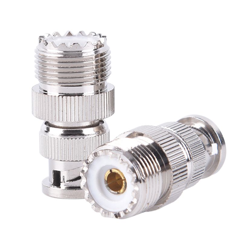 1pc BNC Male Plug To UHF SO239 PL-259 Female Jack RF Coaxial Adapter Cable Connector
