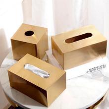 Nordic Style Tissue Box Adorable House Square Tissue Box Holder Retangular Stainless Steel Home Decoration